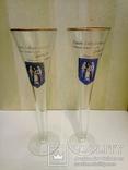 Свадебные бокалы с автографом мера Киева А. Омельченко, фото №2