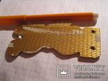 Мишка олимпийский металл золотистый ссср, фото №3