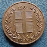 5 аурар 1961  Исландия   (,9.5.16)~, фото №2