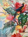 """""""Tropical flowers"""" большая картина маслом 1800х1350 мм Ю. Смаль фото 2"""