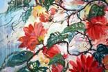 """""""Tropical flowers"""" большая картина маслом 1800х1350 мм Ю. Смаль фото 3"""
