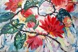 """""""Tropical flowers"""" большая картина маслом 1800х1350 мм Ю. Смаль фото 5"""