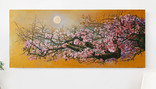 Цветы Сакуры в лунный вечер. 190х85 см.(масло) Ю. Смаль