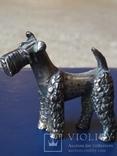 """Срібна статуєтка """"Пес"""", фото №2"""