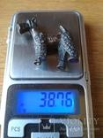 """Срібна статуєтка """"Пес"""", фото №6"""