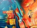 Натюрморт со скрипкой, 90х70, Березин С., фото №5