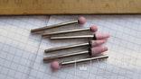 Малые абразивные камешки в гравер 6 шт, фото №2