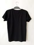 Черная футболка с оригинальным узором. Готовность - 7 дней фото 2
