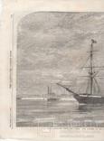 Старинная гравюра. 1858 год. Корабль с членами палаты общин. (41х29см.). фото 5