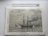 Старинная гравюра. 1858 год. Корабль с членами палаты общин. (41х29см.). фото 7