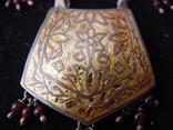 Набор серьги и подвес из Индии Ручная работа Серебро и гранаты, фото №8