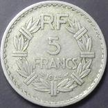 5 франків Франція 1945, фото №3