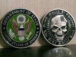 Зеленый берет US.Army - сувенирный жетон, фото №2
