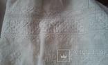 Старинная украинская вышиванка- оберег(Сумщина)   белым по  белому с вырезанием., фото №6