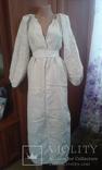 Старинная украинская вышиванка- оберег(Сумщина)   белым по  белому с вырезанием., фото №8
