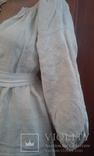 Старинная украинская вышиванка- оберег(Сумщина)   белым по  белому с вырезанием., фото №2