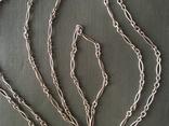 Цепь серебро 800, фото №4