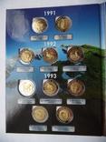 Набор точных копий монет Красная книга 15 монет Биметалл 1991-1994 г. В Альбоме копия, фото №3