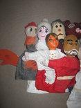 Старинные перчаточные куклы кукольный театр 13шт опилки СССР, фото №3