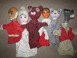 Старинные перчаточные куклы кукольный театр 13шт опилки СССР, фото №6