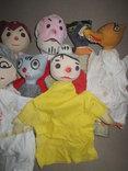 Старинные перчаточные куклы кукольный театр 13шт опилки СССР, фото №10