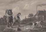 Старинная гравюра. Девид Тернер. Внимание. ХIХ- век. (31 х 23 см.)