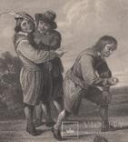 Старинная гравюра. Девид Тернер. Внимание. ХIХ- век. (31 х 23 см.) фото 2