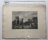 Старинная гравюра. Девид Тернер. Внимание. ХIХ- век. (31 х 23 см.) фото 5