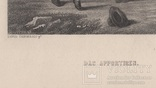 Старинная гравюра. Девид Тернер. Внимание. ХIХ- век. (31 х 23 см.) фото 7