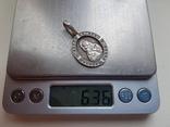 Нательная иконка. Серебро 925 проба. Вес 6.3 г., фото №8