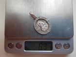 Нательная иконка. Серебро 925 проба. Вес 6.3 г., фото №9
