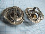 Серьги  серебро  925пр.   золото - 375пр.   вес - 10,4г, фото №6