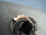 Серьги  серебро  925пр.   золото - 375пр.   вес - 10,4г, фото №8