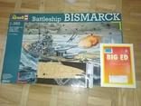 1/350 revell Bismarck + палуба + BigEd, фото №2