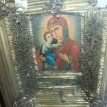 Большая икона под стеклом ( 53 на 47 см), фото №4