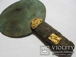 Скифское зеркало с золотыми пальметтами и бляшками звер.стиля(Заяц) в рукояти-5в.до н.э, фото №9