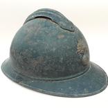 Каска Адриана 1915 года, Франция, кокарда французской пехоты, фото №2
