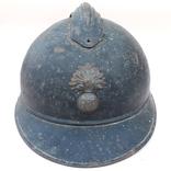 Каска Адриана 1915 года, Франция, кокарда французской пехоты, фото №3