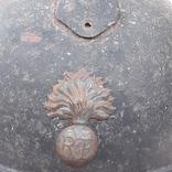 Каска Адриана 1915 года, Франция, кокарда французской пехоты, фото №4