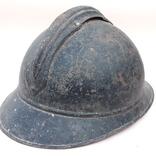 Каска Адриана 1915 года, Франция, кокарда французской пехоты, фото №8