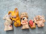 Лот резиновых игрушек времен СССР, фото №2