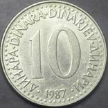 10 динарів Югославія 1987, фото №2