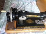 Швейная машинка ПОДОЛЬСК с ручным приводом.Рабочая., фото №8