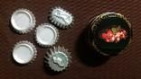 Металлическая банка *Розы*.Формы для выпечки кексов алюминиевые., фото №2