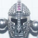 "Браслет""Рыцарский шлем""Серебро(925), фото №2"