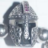 "Браслет""Рыцарский шлем""Серебро(925), фото №7"
