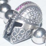 "Браслет""Рыцарский шлем""Серебро(925), фото №8"