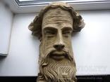 Полихромная скульптура. Голова ( частина Амвона ), фото №2