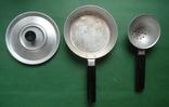 Сковорода и дуршлаг ( алюминий , карболит .), фото №2
