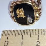 Золотое мужское масонское кольцо, фото №6